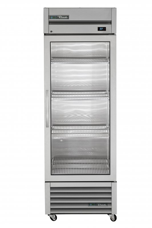 True 1 Glass Door Foodservice Upright Refrigerator T-23G