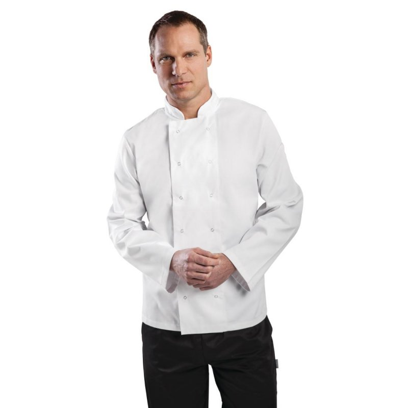 Whites Vegas Unisex Chef Jacket Long Sleeve White - XS