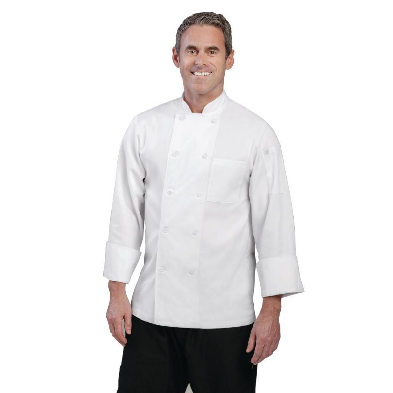 Chef Works Unisex Le Mans Chefs Jacket White L
