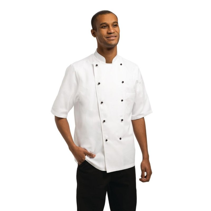 Chef Works Unisex Marche Chefs Jacket Short Sleeve L