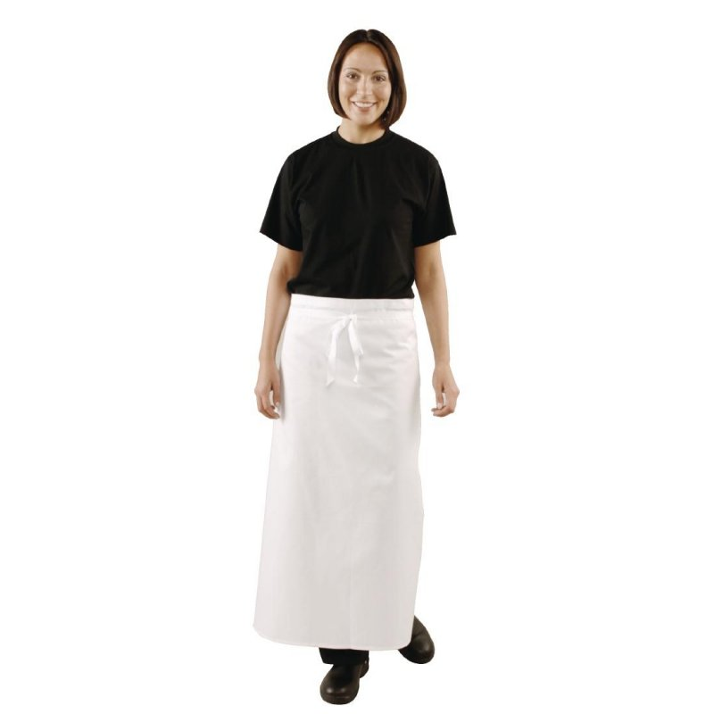 Whites Waist Apron With Brass Eyelets Extra Length