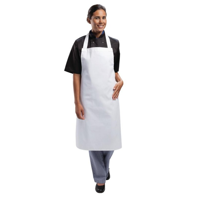 Whites Bib Apron Polycotton White