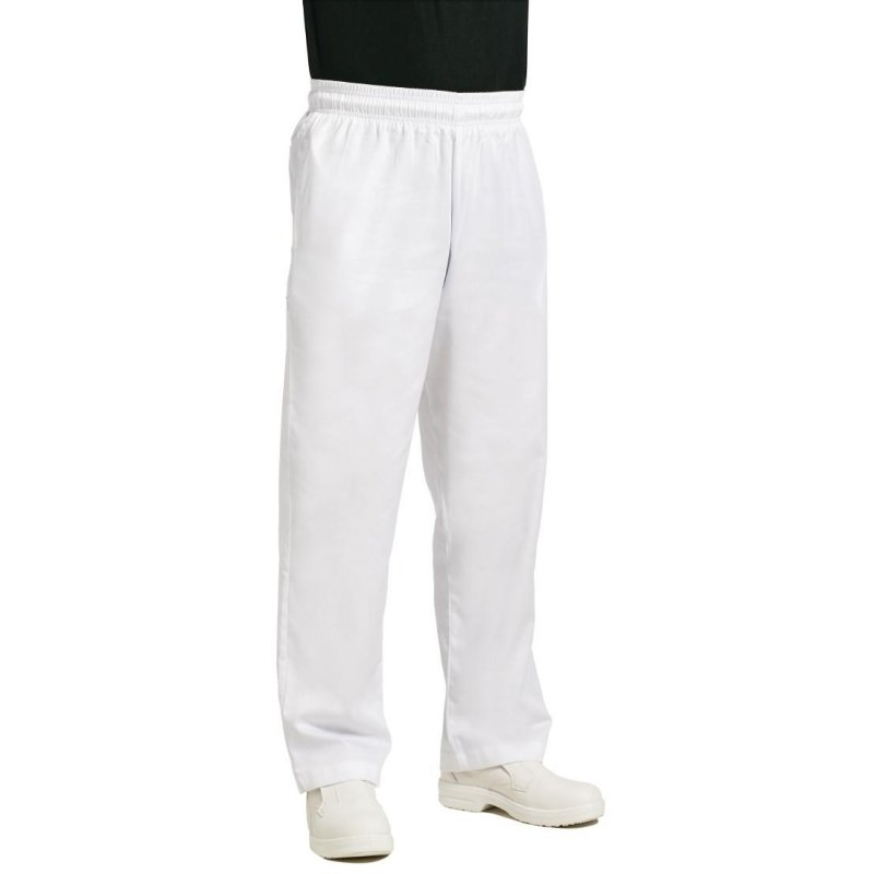 Chef Works Unisex Easyfit Chefs Trousers White S
