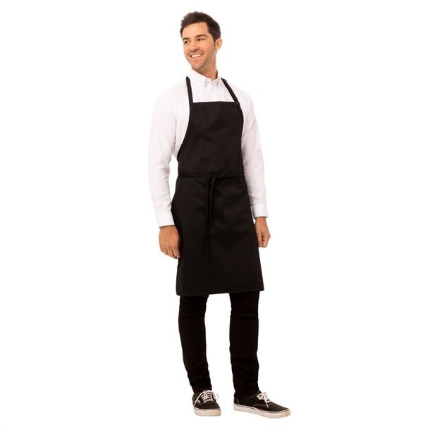 Chef Works Bib Apron Black