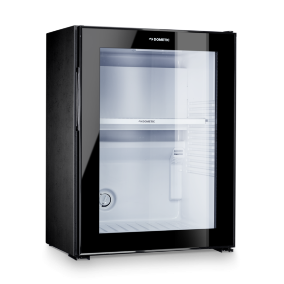 Dometic Silent Hotel Room Glass Door Mini Fridge Black RH 440 LG (40 Litre)
