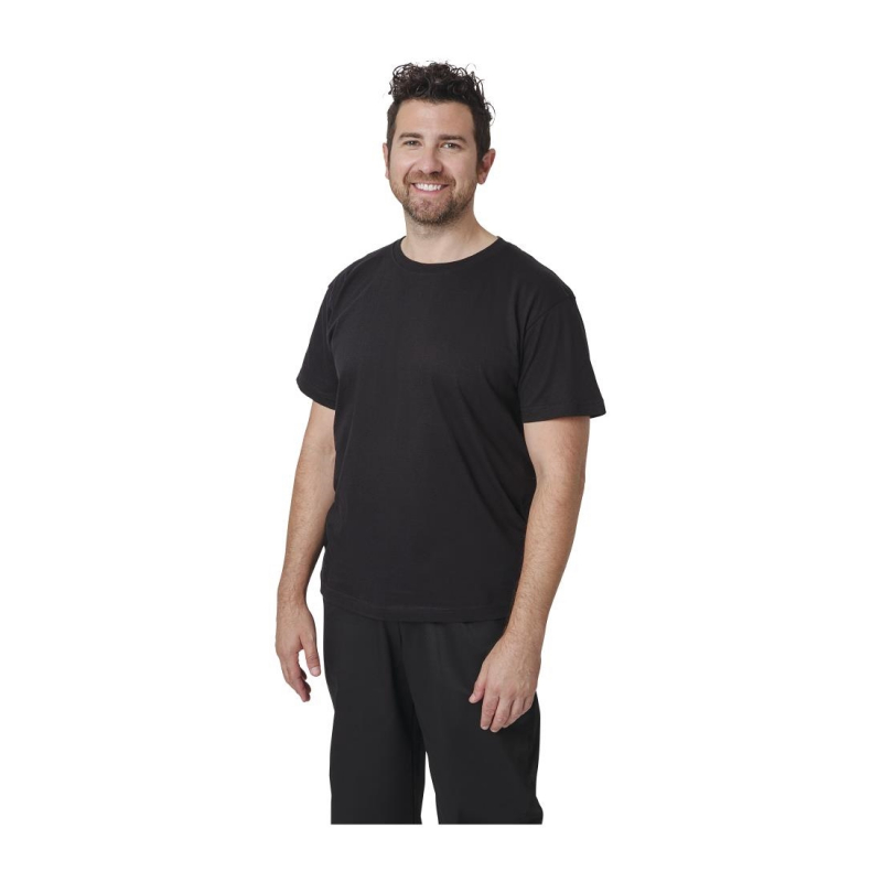 Unisex Chef T-Shirt Black L