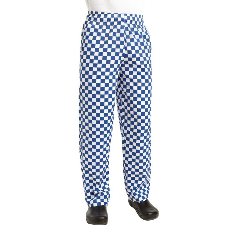 Chef Works Essential Baggy Pants Big Blue Check 2XL