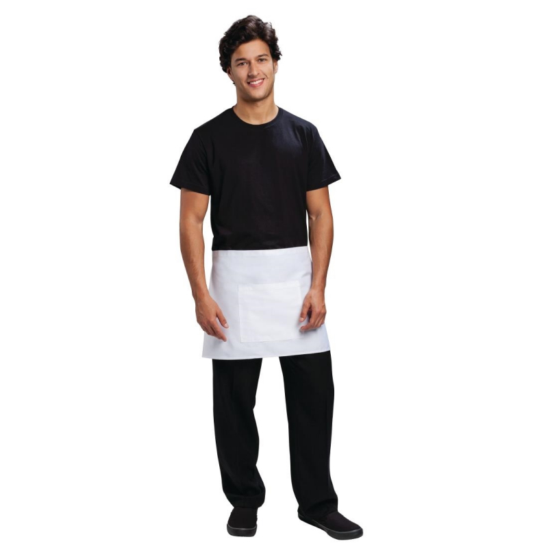 Chef Works Short Bistro Apron White