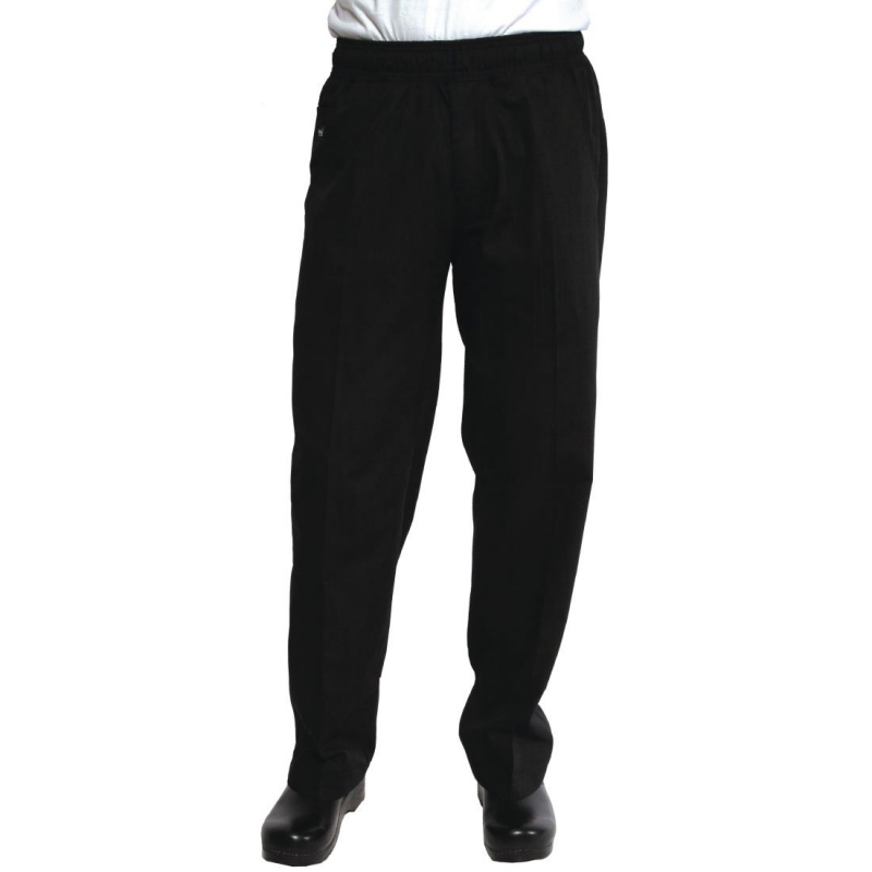 Chef Works Unisex Better Built Baggy Chefs Trousers Black M