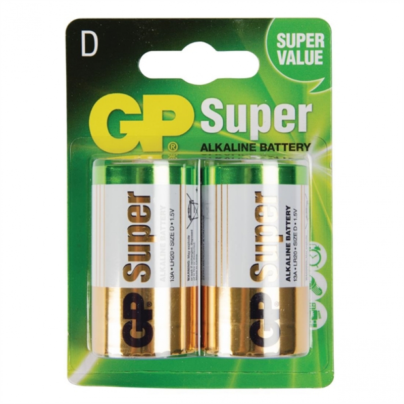 D Size Batteries (Pack of 2)