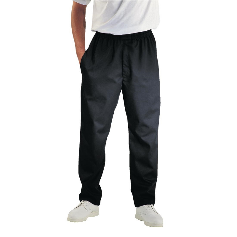 Chef Works Unisex Easyfit Teflon Coated Chefs Trousers Black XL
