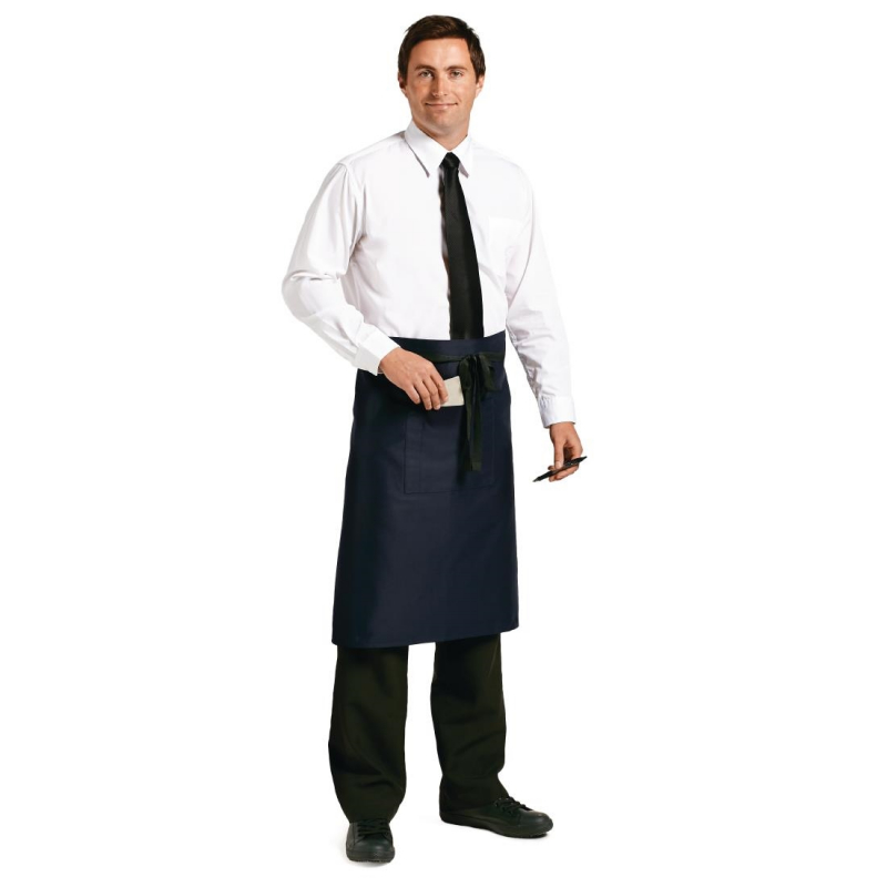 Chef Works Regular Bistro Apron Navy Blue
