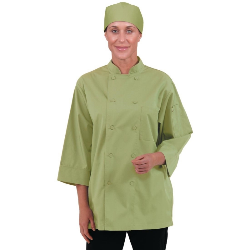 Chef Works Unisex Chefs Jacket Lime XL