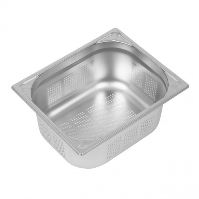 Vogue Heavy Duty Stainless Steel Perforated 1/2 Gastronorm Pan 150mm
