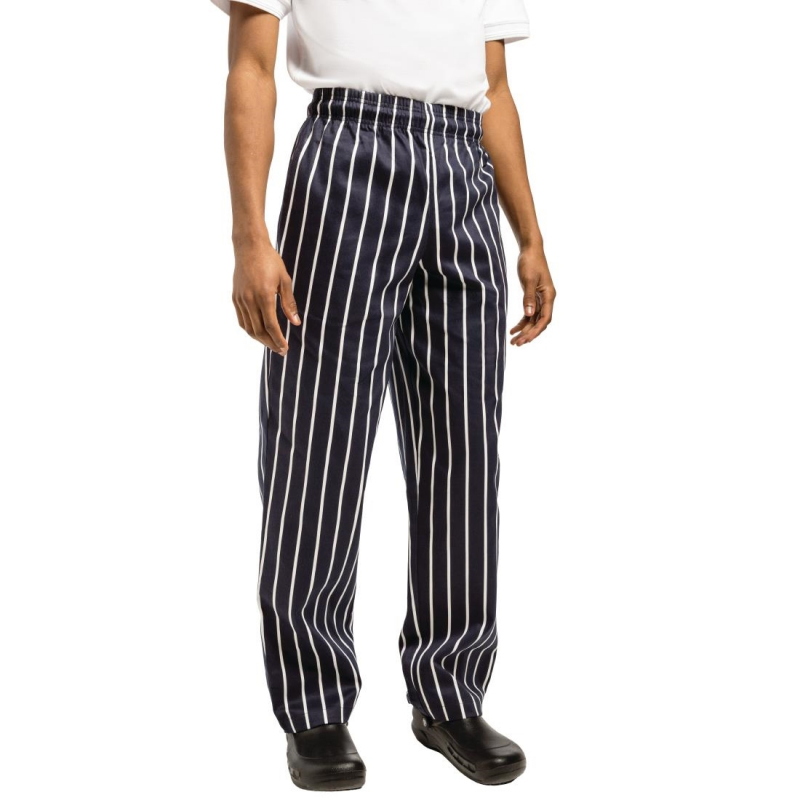 Chef Works Essential Baggy Pant Butchers Stripe XS