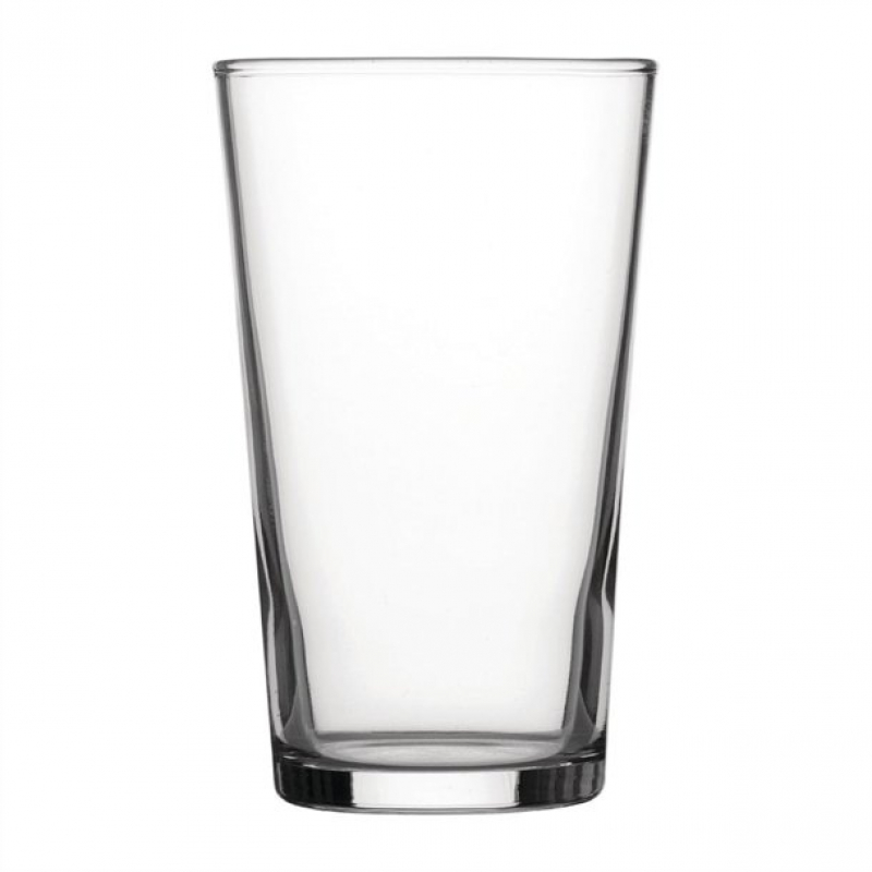 Utopia Toughened Conical Beer Glasses 280ml CE Marked (Pack of 48)