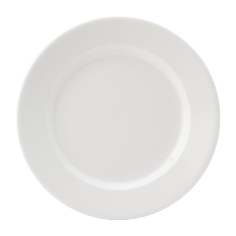 Utopia Titan Winged Plates White 230mm (Pack of 24)