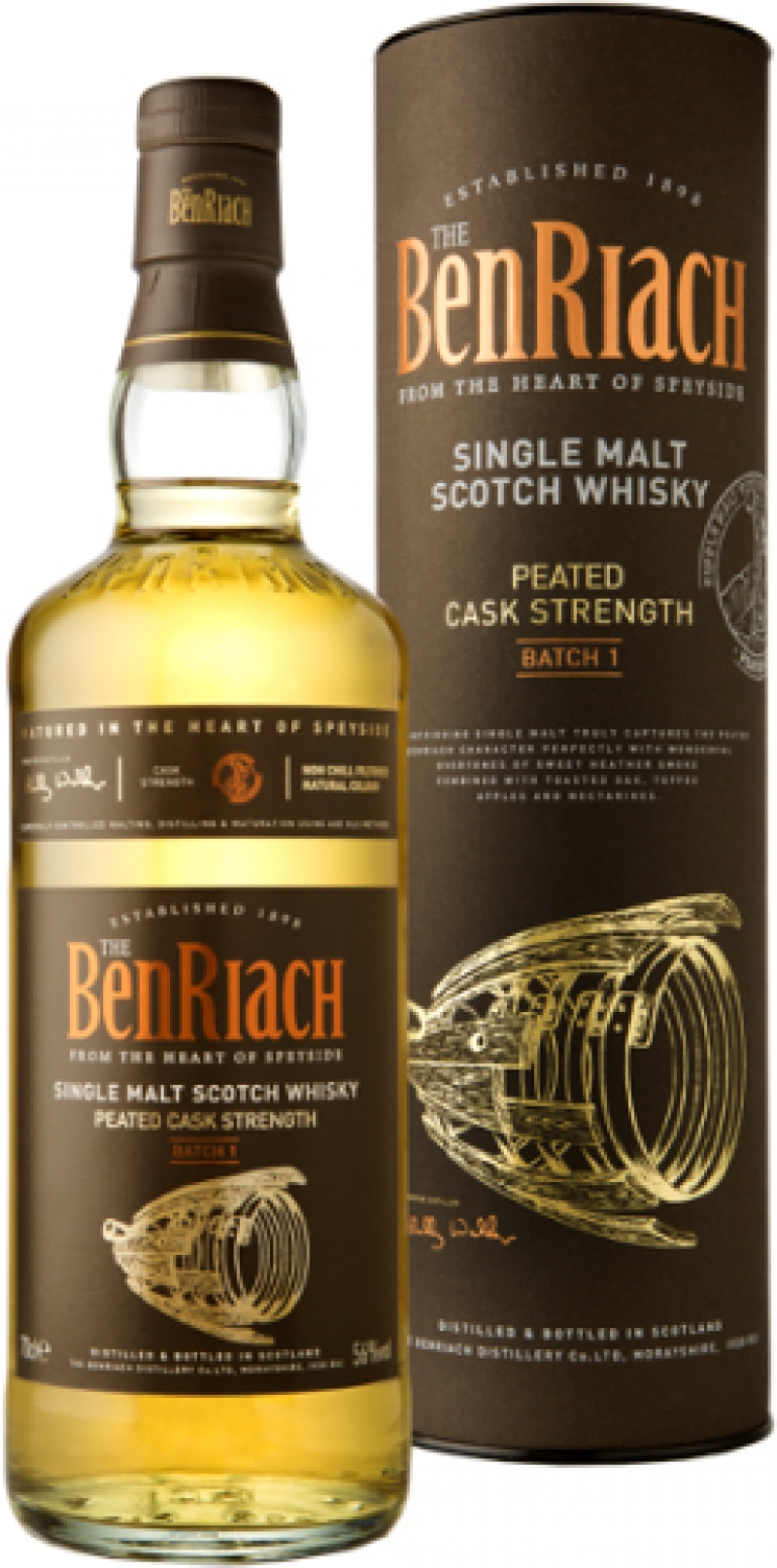 Benriach - Peated Cask Strength Batch 1 (70cl Bottle)