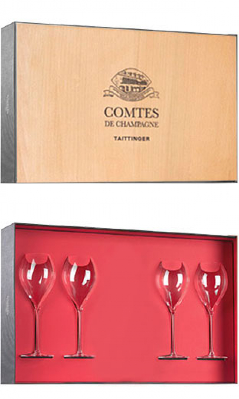 Taittinger - Comtes de Champagne Wooden Gift Box (75cl Bottle)