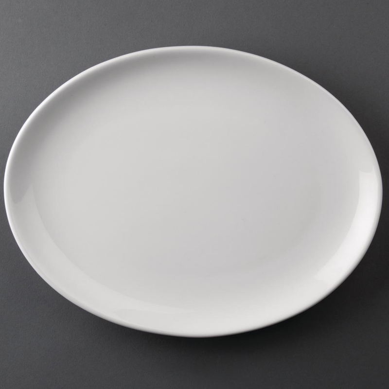 Athena Hotelware Oval Coupe Plates 254 x 197 mm (Pack of 12)