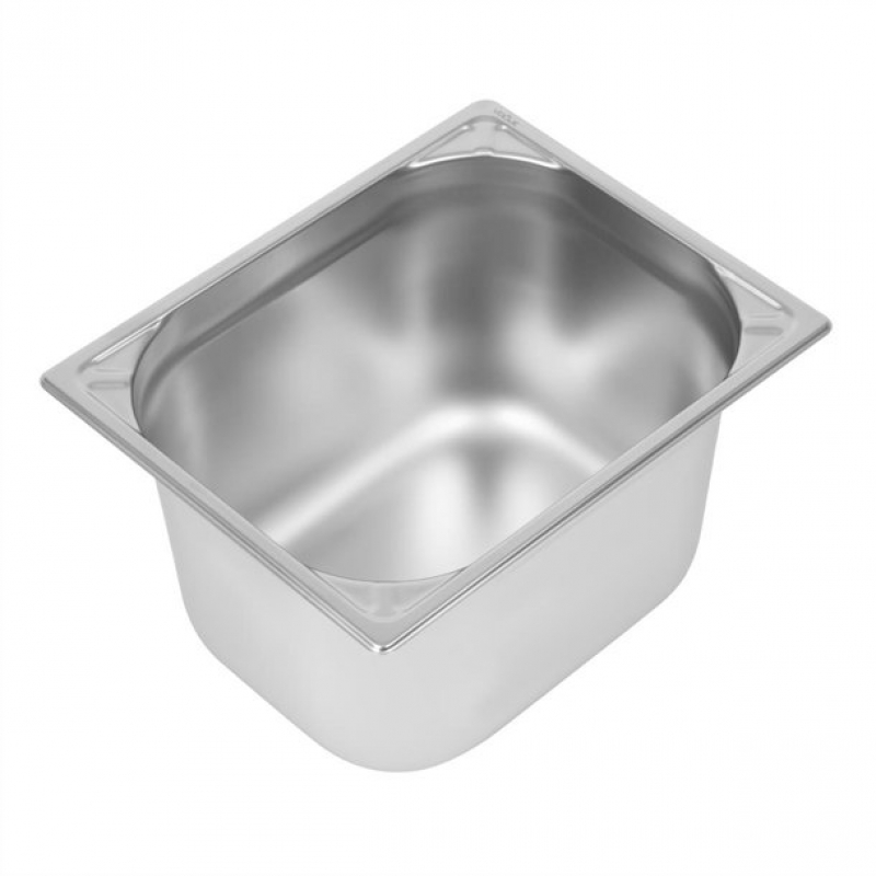 Vogue Heavy Duty Stainless Steel 1/2 Gastronorm Pan 200mm