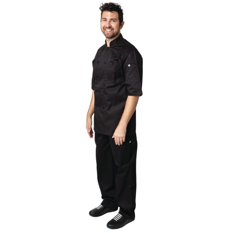 Chef Works Montreal Cool Vent Unisex Chefs Jacket Black 3XL